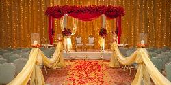 The aisle in a wedding area