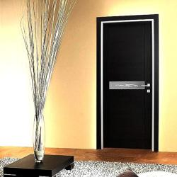 aluminium design on wooden door