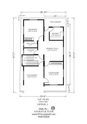 """house plan for 28"""" by 26 """""""