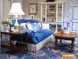 Blue Textured Room...