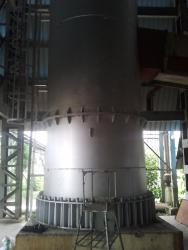 Industrial boiler chimney fabrication work