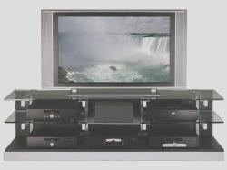 flat tv stand modern design done with glass