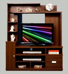 wooden lcd unit design with multiple shelves
