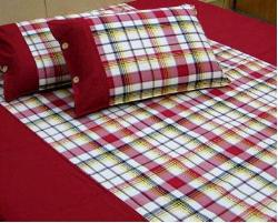 Cotton Check Bedsheet....