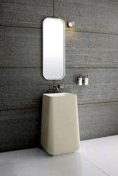 modern mirror concept and wash basin