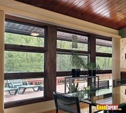 wooden windows full window