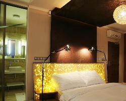 Bed side Lights and headboard