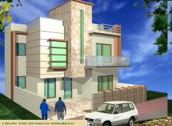 3D Elevation concept for a 2 story home