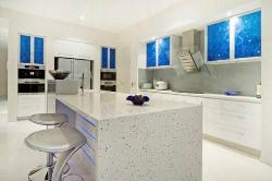 kitchen design with full ventilation in white color