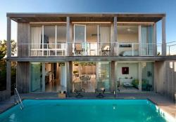 Swimming Pool of Ocean Walk House, Fire Island