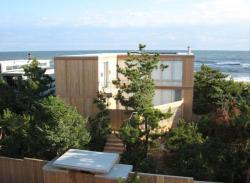 exterior of Ocean Walk House, Fire Island