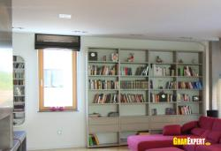 Wall unit for books in living roo