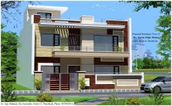 3D view of house at panchkula
