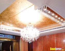 Chandelier on false Ceiling and centralized ac duct