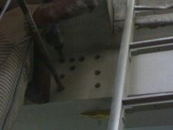 Rebar fixing/grouting work for TMT steel bar/rod ribbed in concrete for beam extension