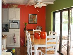 White colored dining for the kitchen