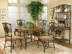 4 seater wrought iron dining table and chairs
