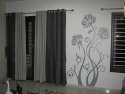 Residential Interior Wall Graphic For Drawing Room