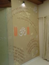 Residential  Interior Wall Graphic for Pooja Room