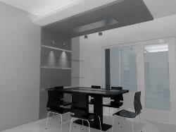 ceiling extension from wall for dining room