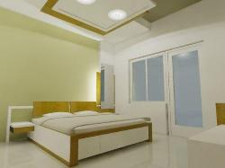 Ceiling, door and window design for bedroom
