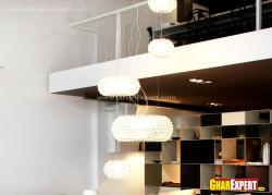 Beautiful tall multilevel chandelier for living room