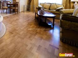 Hardwood floor pattern for living room
