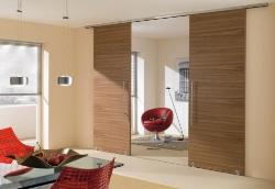 Wooden Sliding Door in Living room