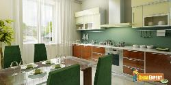 Modular Kitchen With Dining