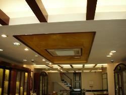 Wooden and Gypsum False ceiling design