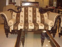 Traditional carved 2 seater sofa