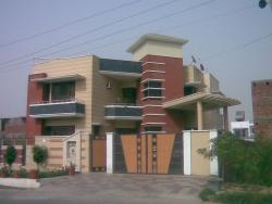 home elevation design with gate and boundary wall by jagjeet