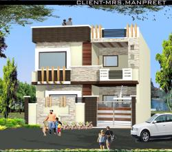 Double story home elevation design