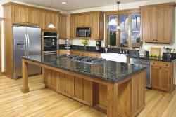 Kitchen interior with brown concept