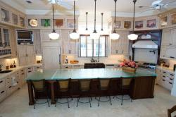 Kitchen counter top with Kitchen lighting