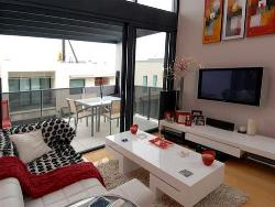 Living room balcony, furniture, LCd wall unit