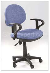 Blue office workstation Chair
