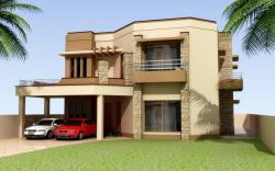 Contemporary house design 3d elevation