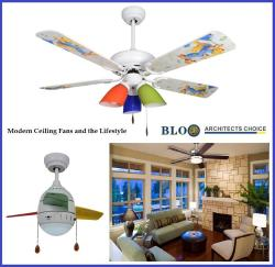 BLOO LED DESIGNER FAN WITH LIGHT