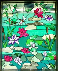 Floral Glass Window