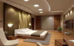 Bedroom Interior, Furniture, Wall cladding, Flooring, Ceiling Design