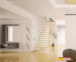 Internal wooden stairs design