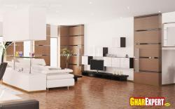 Lcd unit and decor in modern style forliving room