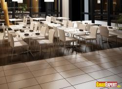 Coffee table and chairs for restaurant