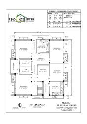 house plan for 37 feet by 41 feet plot