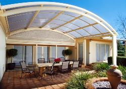 Veranda with Curved Roof