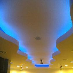zigzag  ceiling with lighting effects