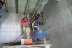 Rcc concrete wall kitchen chimney exhaust outlet pipe core cutting holes,porur,chennai