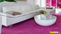 White leather sectional sofa for living room
