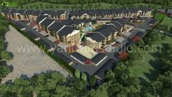 3D Residential Exterior Aerial View